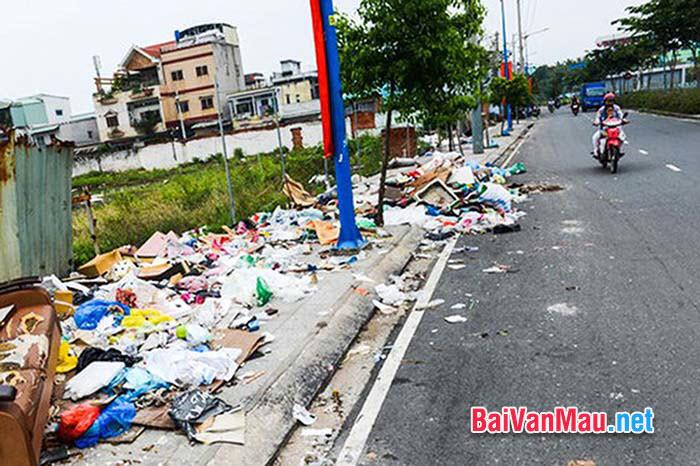 Anh chị suy nghĩ gì về tình trạng xả rác tràn lan trong địa bàn thành phố