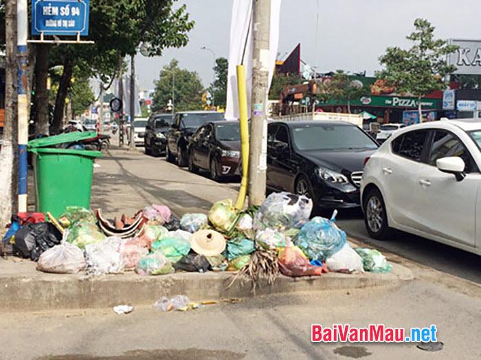 Văn nghị luận - Suy nghĩ về hiện tượng vứt rác bừa bãi nơi công cộng