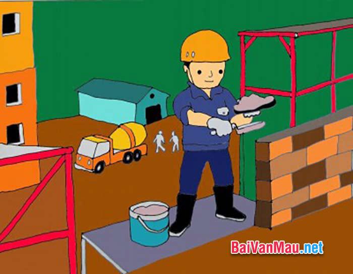Văn tả người - Tả một bác thợ xây đang làm việc