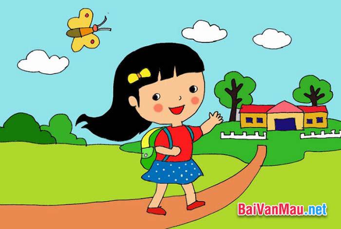 Văn miêu tả - Em hãy tả con đường quen thuộc từ nhà đến trường