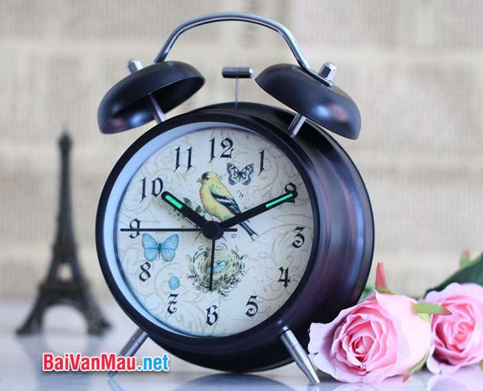Văn tả đồ vật - Em hãy miêu tả cái đồng hồ báo thức