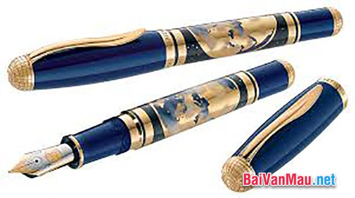 Chiếc bút (viết) máy là một đồ dùng học tập không thể thiếu được đối với tất cả học sinh. Em hãy tả lại cây bút (viết) ấy của em