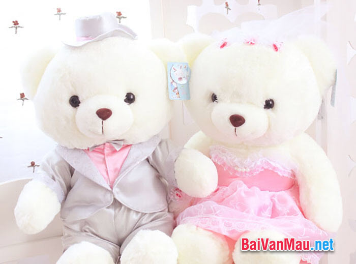 Văn tả đồ vật - Con gấu bông là đồ chơi em rất yêu quý. Em hãy tả con gấu bông của em cho các bạn cùng nghe