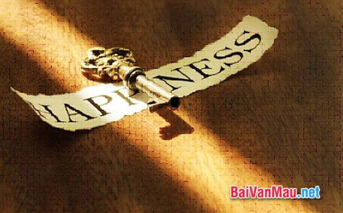 Văn nghị luận - Bí mật của hạnh phúc