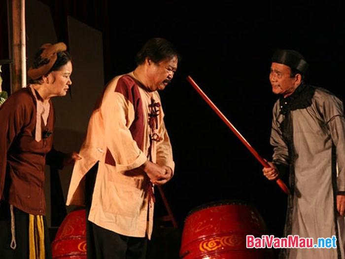 Triết lí nhân sinh mà anh (chị) cảm nhận được ở vở kịch Hồn Trương Ba, da hàng thịt?