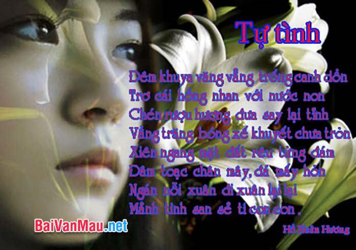 Phân tích bài thơ Tự tình (bài II) của Hồ Xuân Hương