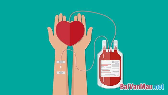 Viết một bài văn ngắn (không quá 400 từ) phát biểu ý kiến về phong trào hiến máu nhân đạo