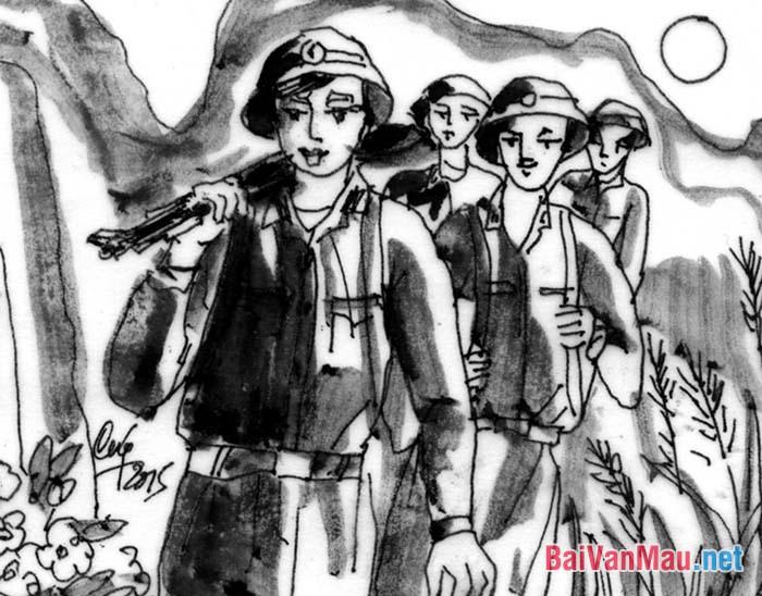 Phân tích hình tượng người lính trong đoạn thơ sau: ...Tây Tiến đoàn binh không mọc tóc... Sông Mã gầm lên khúc độc hành. (Tây Tiến - Quang Dũng, Ngữ văn 12, tập một, NXB GD 2012 - trang 89)