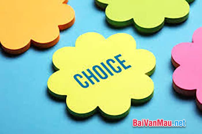 Văn tự sự - Lựa chọn
