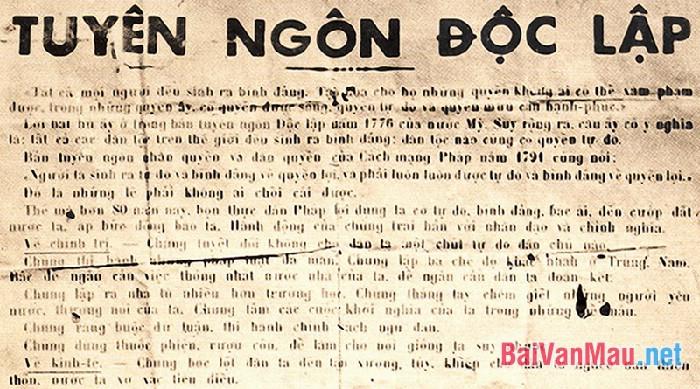 """Phân tích đoạn văn sau trong bản Tuyên ngôn Độc lập của Hồ Chí Minh: """"Hỡi đồng bào cả nước,... Đó là những lẽ phải không ai chối cãi được."""""""