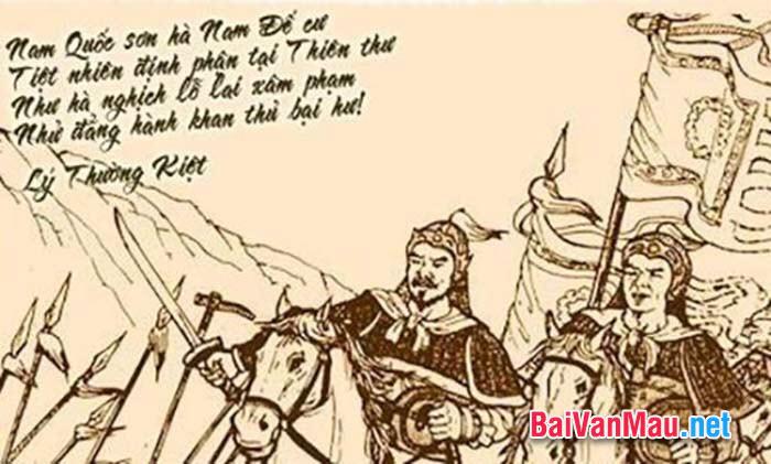 Tình cảm yêu nước và tự hào dân tộc trong thơ văn thế kỉ X - Nửa thế kỉ XV. Dùng các bài Nam quốc sơn hà, Thuật hoài và Bạch Đằng giang phú để chứng minh