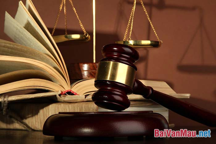 Văn nghị luận - Suy nghĩ về luật pháp