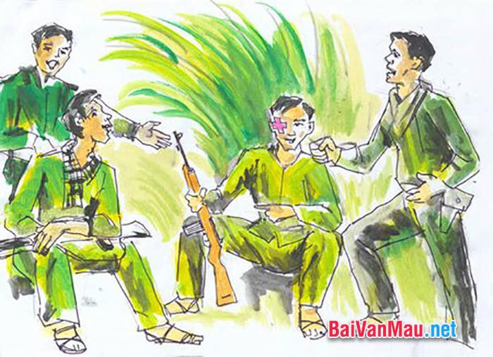 Đóng vai nhân vật trữ tình kể lại tình đồng chí giữa các người lính