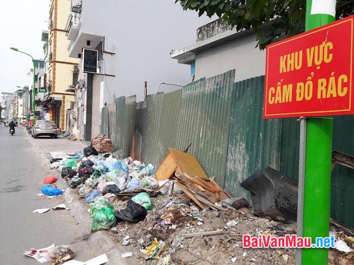 Vứt rác bừa bãi là hiện tượng phổ biến hiện nay em hãy viết bài văn về hiện tượng đó