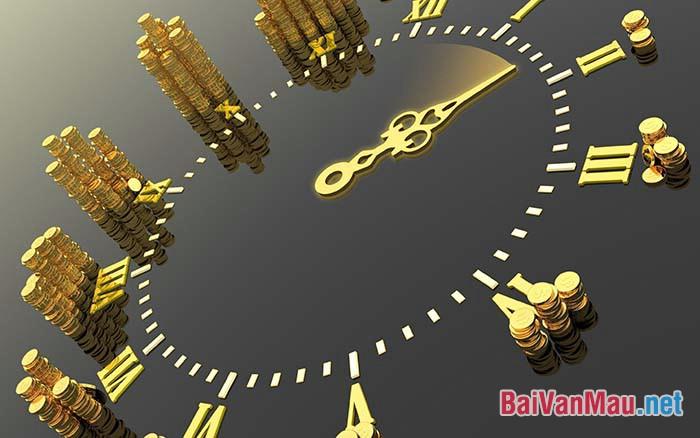 Thời gian có thể là vàng, thời gian có thể là gì sắt. Điều đó phụ thuộc vào mỗi người. Trình bày suy nghĩ của em về câu trên