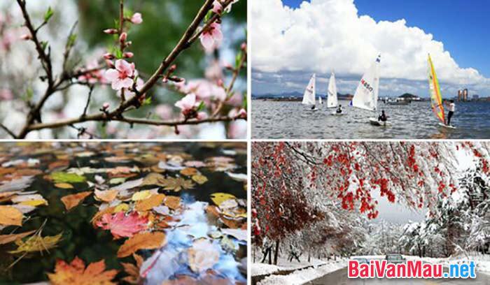 Viết biểu cảm về 4 mùa của đất nước