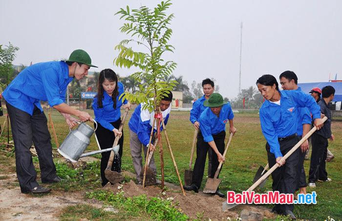 Văn nghị luận: Nhân dân quê em hăng hái hưởng ứng tết trồng cây