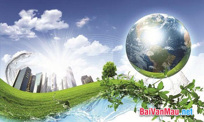 Văn nghị luân về vấn đề môi trường