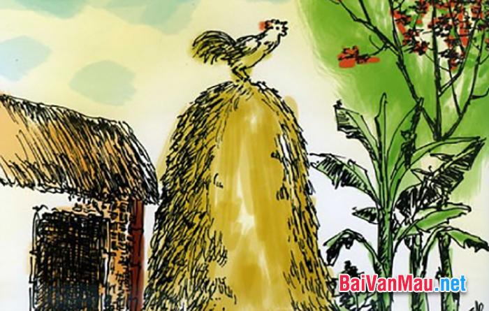 Viết bài văn về bài Tiếng gà của Xuân Quỳnh